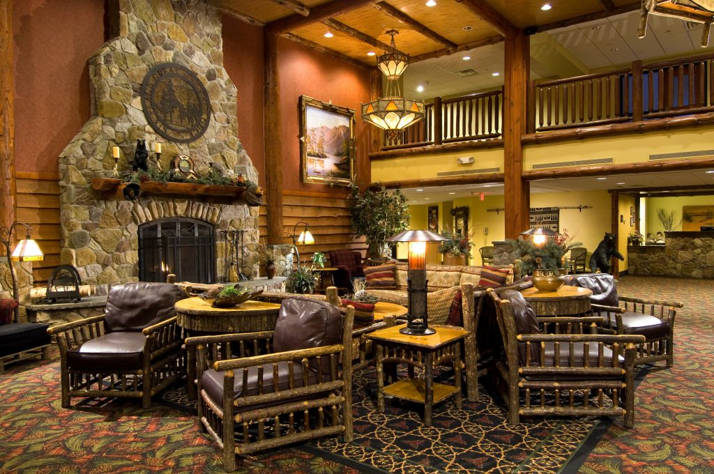 Inside view of Lodge lobby