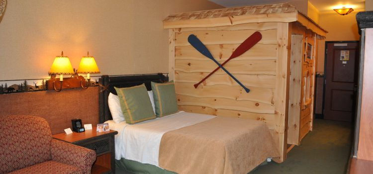 Kids log cabin room